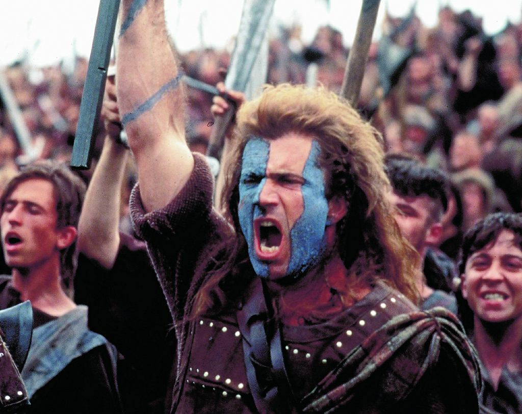 Mel Gibson w filmie 'Braveheart'