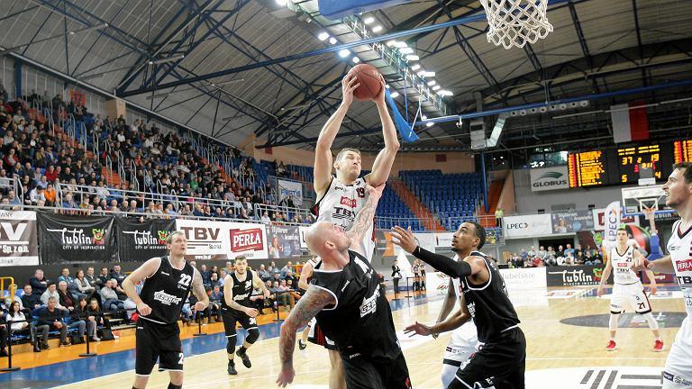 TBV Start Lublin - Czarni Słupsk 107:50. Z piłką Roman Szymański