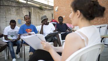 Obóz dla uchodźców prowadzony przez Caritas we włoskim mieście Ventimiglia