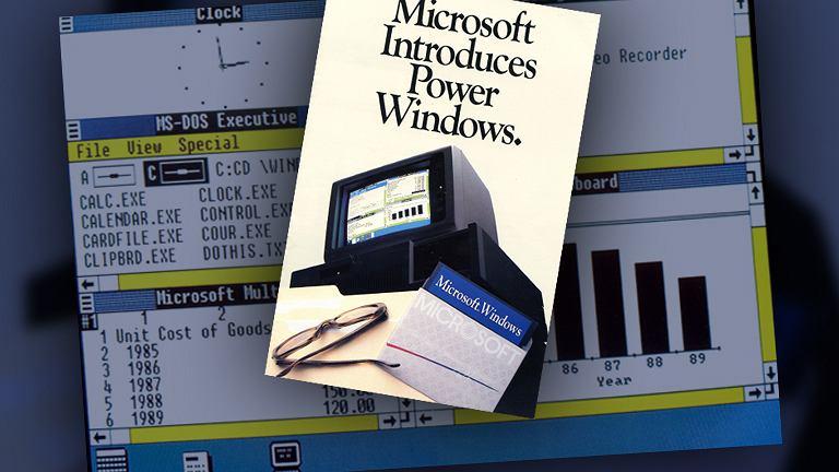 Reklama prasowa Windows 1.0
