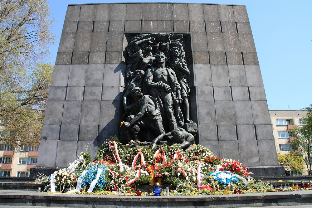 Warszawa żydowska. Pomnik Bohaterów Getta w Warszawie