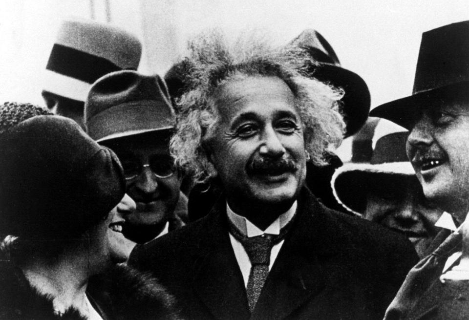 Albert Einstein i jego żona Elsa w Ameryce, lata 20. XX wieku