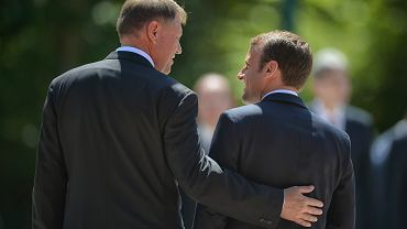 Emmanuel Macron z Klausem Iohannisem