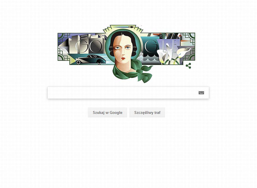 Doodle z Tamarą Łempicką / Google Doodle