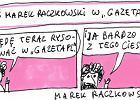 """Raczkowski od dziś będzie rysował dla Gazeta.pl: """"W internecie można dostać największy wpie***l"""""""