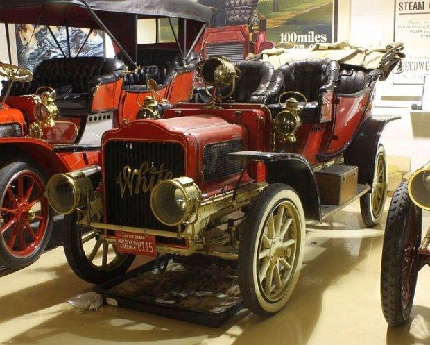 White Steam Car