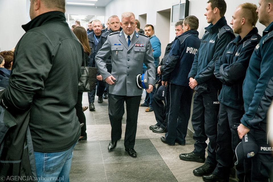 Podinspektor Andrzej Szary, przewodniczący Zarządu Wojewódzkiego NSZZ Policjantów województwa wielkopolskiego