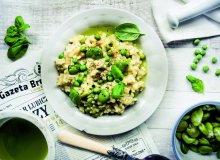 Risotto z bobem, groszkiem i bazyliową oliwą - ugotuj