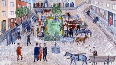 Mayer Kirshenblatt ''Dzień targowy w Opatowie'' 1934 r.