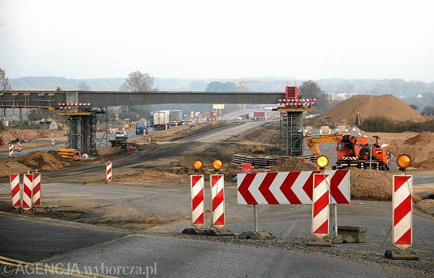 Budowa drogi ekspresowej S8 Jeżewo - Białystok w październiku 2011 r.