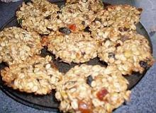 Pyszne ciasteczka owsiano - bakaliowe - ugotuj