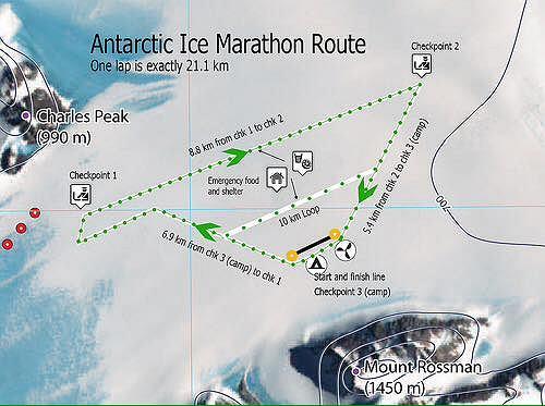 Trasa Antarctic Ice Marathon