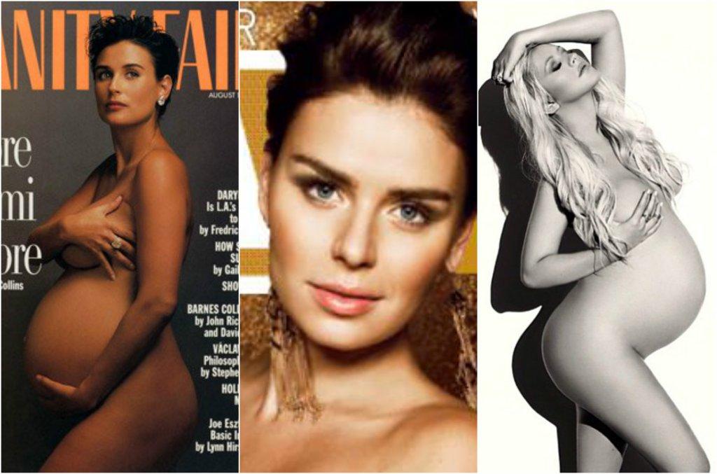 Boom na seksowne (przynajmniej z założenia) ciążowe sesje zdjęciowe trwa w najlepsze. Jednak nie każda gwiazda wypada tak jak Demi Moore w słynnej sesji dla