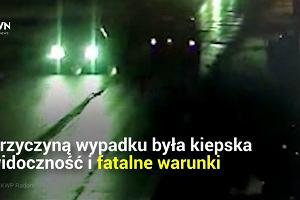 Trudne warunki na drogach przyczyną groźnego wypadku. Policja apeluje o ostrożność