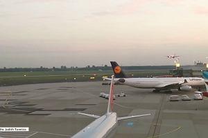 Nagranie ryzykownego manewru pilota Air Berlin nad lotniskiem w Düsseldorfie