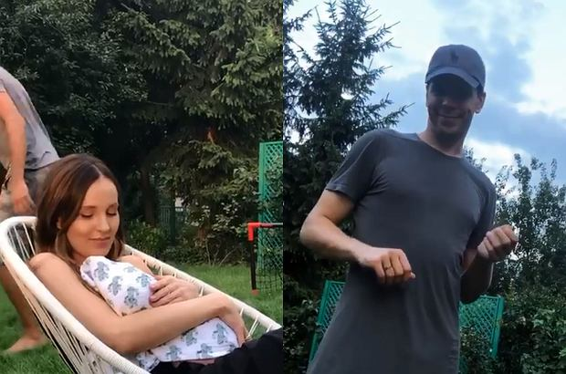 Marina Łuczenko-Szczęsna pochwaliła się rodzinnym nagraniem. Tym samym po raz pierwszy od porodu pokazała niemal całą sylwetkę.