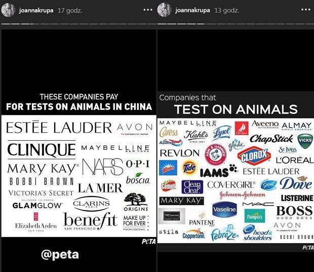Marki, które prowadzą testy na zwierzętach wg PETA