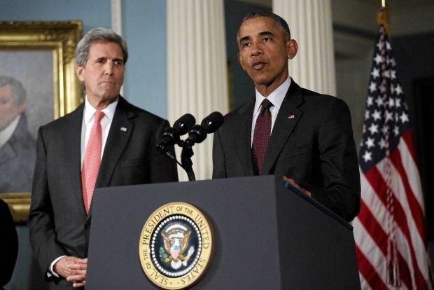 Barack Obama i John Kerry