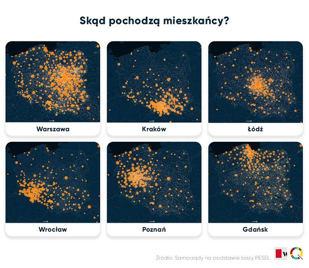 "There is no such city as ""London"", or how BIQdata researched where Polish city residents came from"