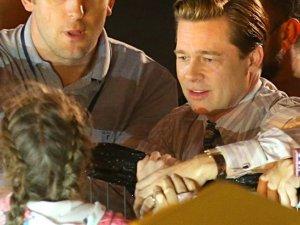Brad Pitt na planie filmu Allied