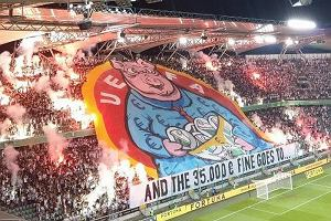 UEFA ukarała Legię, ale nie za powstańczą oprawę. Ultrasi odpowiadają świnią