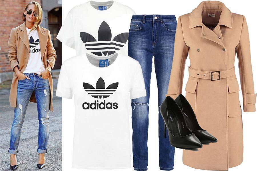 Koszulka Adidas - stylizacja