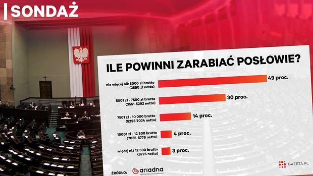 Zdjęcie numer 1 w galerii - Sondaż dla Gazeta.pl: Posłowie powinni zarabiać maksymalnie 3550 zł na rękę