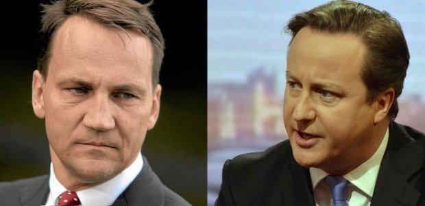 Sikorski krytykuje Camerona na Twitterze. Rzecznik premiera odpowiada