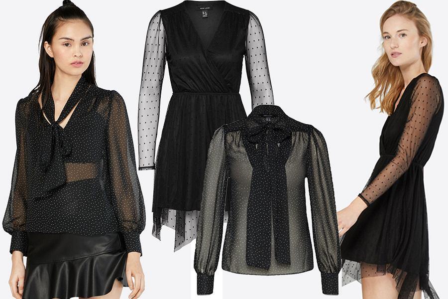 przezroczyste bluzki i sukienki New Look