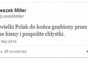Miller o �mierci Jaruzelskiego: Odszed� wielki Polak do ko�ca gn�biony przez polityczne hieny [TWITTER]