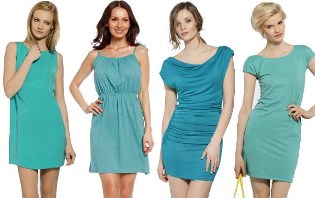 Turkusowe sukienki na lato - ponad 50 propozycji