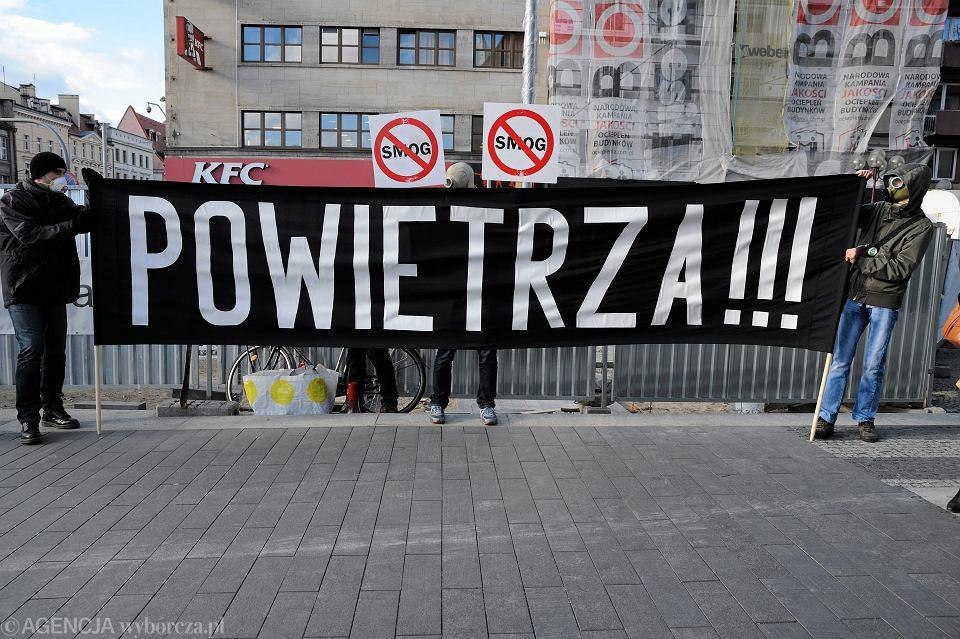 Antysmogowa demonstracja we Wrocławiu