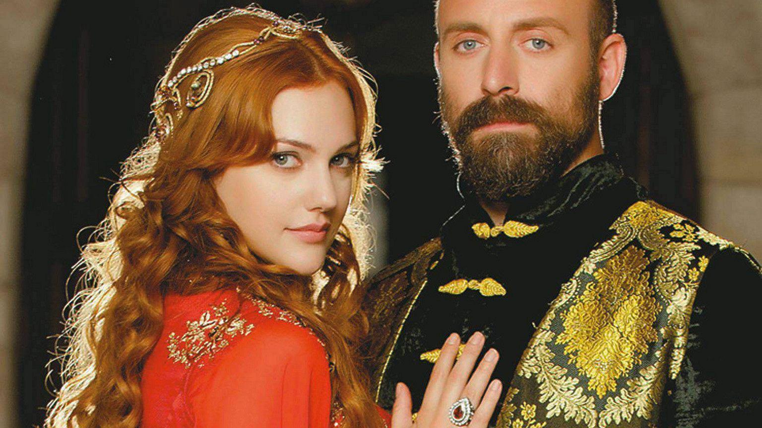 Roksolana i Sulejman Wspaniały. Kadr z serialu ''Wspaniałe stulecie''