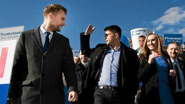 Briefing Ryszarda Petru oraz podlaskich kandydatów partii Nowoczesna w wyborach do parlamentu