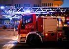 Wielki pożar w Wieruszowie. Zapalił się magazyn z płytami wiórowymi