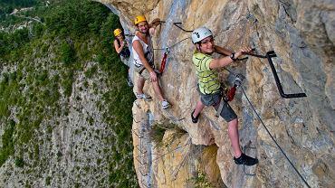 Przykład Via Ferrata we francuskich Alpach (Alpy-Lazurowe Wybrzeże) / fot. ADT 04 Flickr.com CC BY