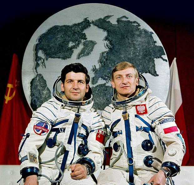 Piotr Klimuk i Mirosław Hermaszewski