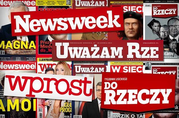 """Spada sprzeda� prawicowych tygodnik�w. Najwi�cej straci�o """"Do Rzeczy"""""""