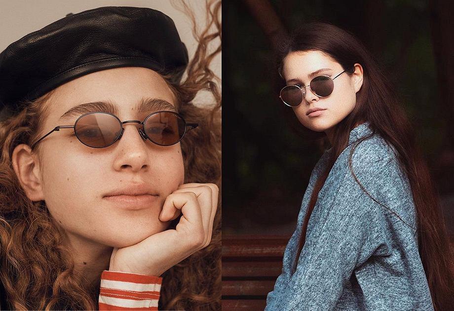 Okulary przeciwsłoneczne: po lewej Komono, po prawej Sinsay