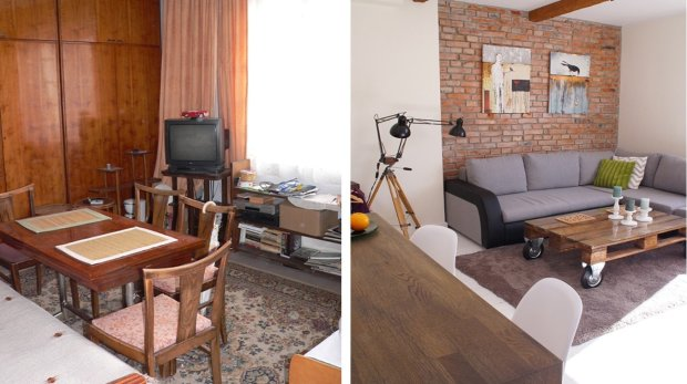 Kawalerka przed i po.