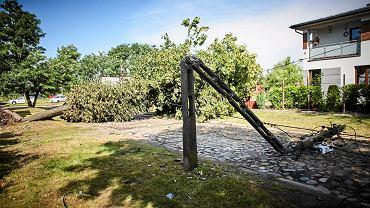 Burza nad Łodzią. Skutki nawałnicy na ulicach Łodzi