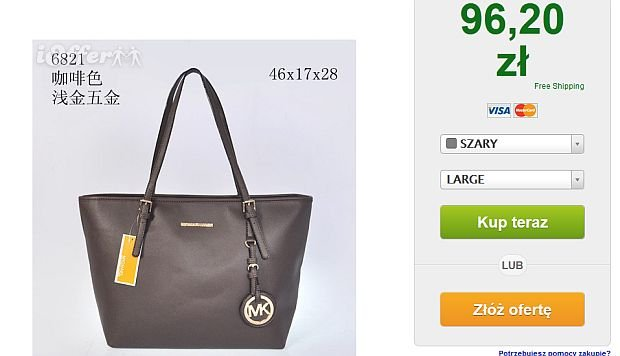 cebd428adf25e Kors za 96 zł? chyba nie wierzycie w bajki!? Fot. Screen iOffer.com