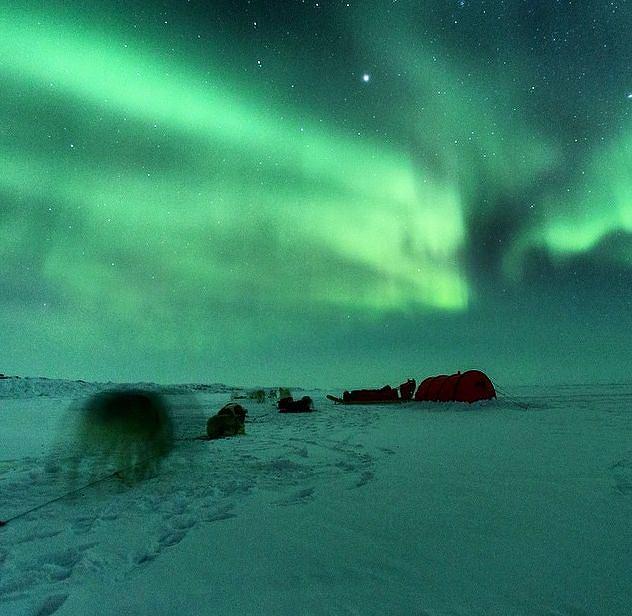 Zorza polarna nad Ziemią Baffina