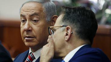 Premier Izraela Benjamin Netanyahu i sekretarz gabinetu Tzachi Braverman