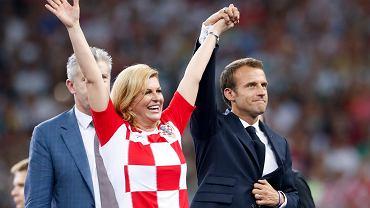 Mundial 2018. Prezydent Chorwacji Kolinda Grabar-Kitarović na finale mistrzostw świata