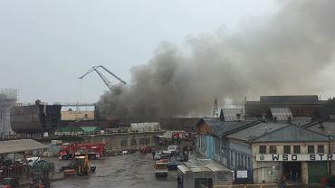 Pożar w Stoczni Gdańskiej