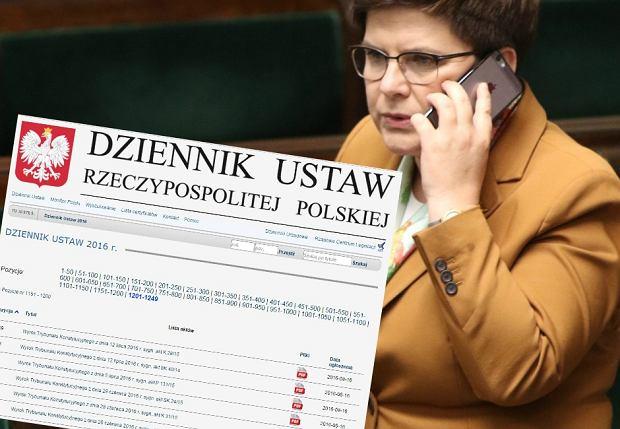 Rząd Beaty Szydło wydrukował 21 orzeczeń TK