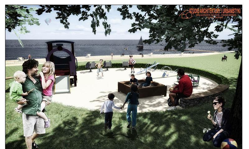Wizualizacja kąpieliska Dziewoklicz po przebudowie