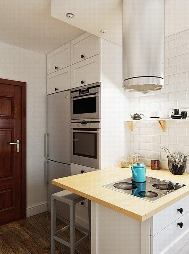 Mała kuchnia w bloku pełna dobrych rozwiązań 12   -> Mala Kuchnia Z Oknem Projekt