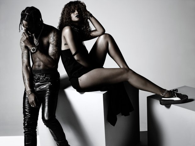 Buty Puma Rihanna Bordowe